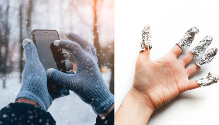 16. Wearing Foil On Your Fingers Will Help You Use Your Phone With Gloves