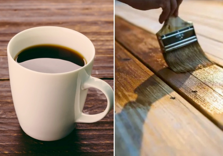 28. Use Coffee To Restore Wood