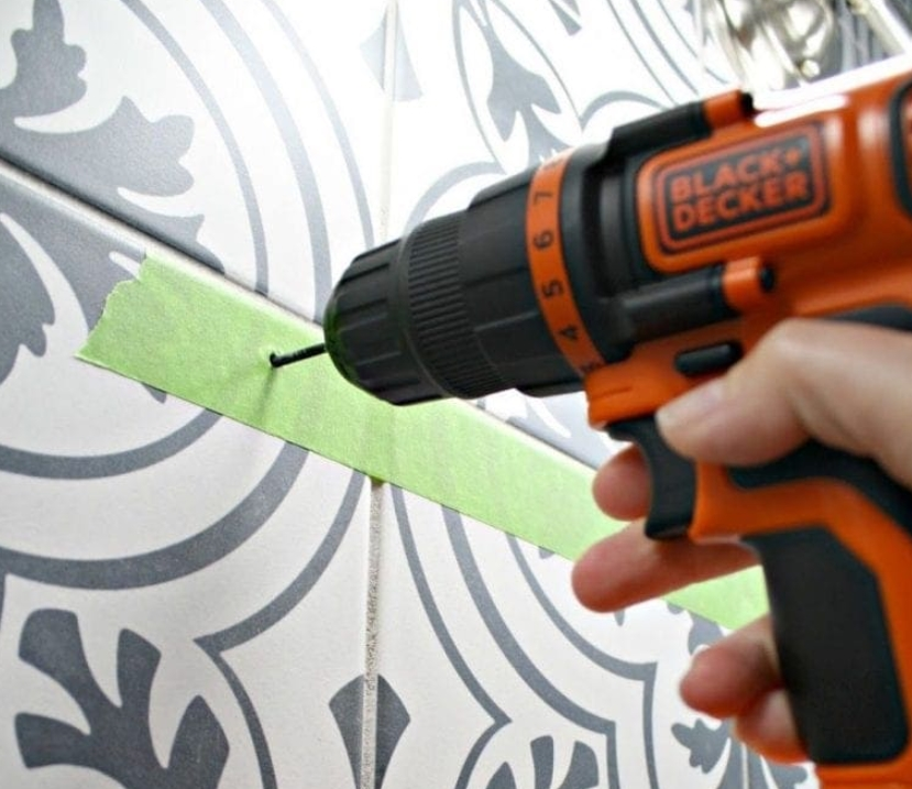 34. Drill Into Tiles Easily
